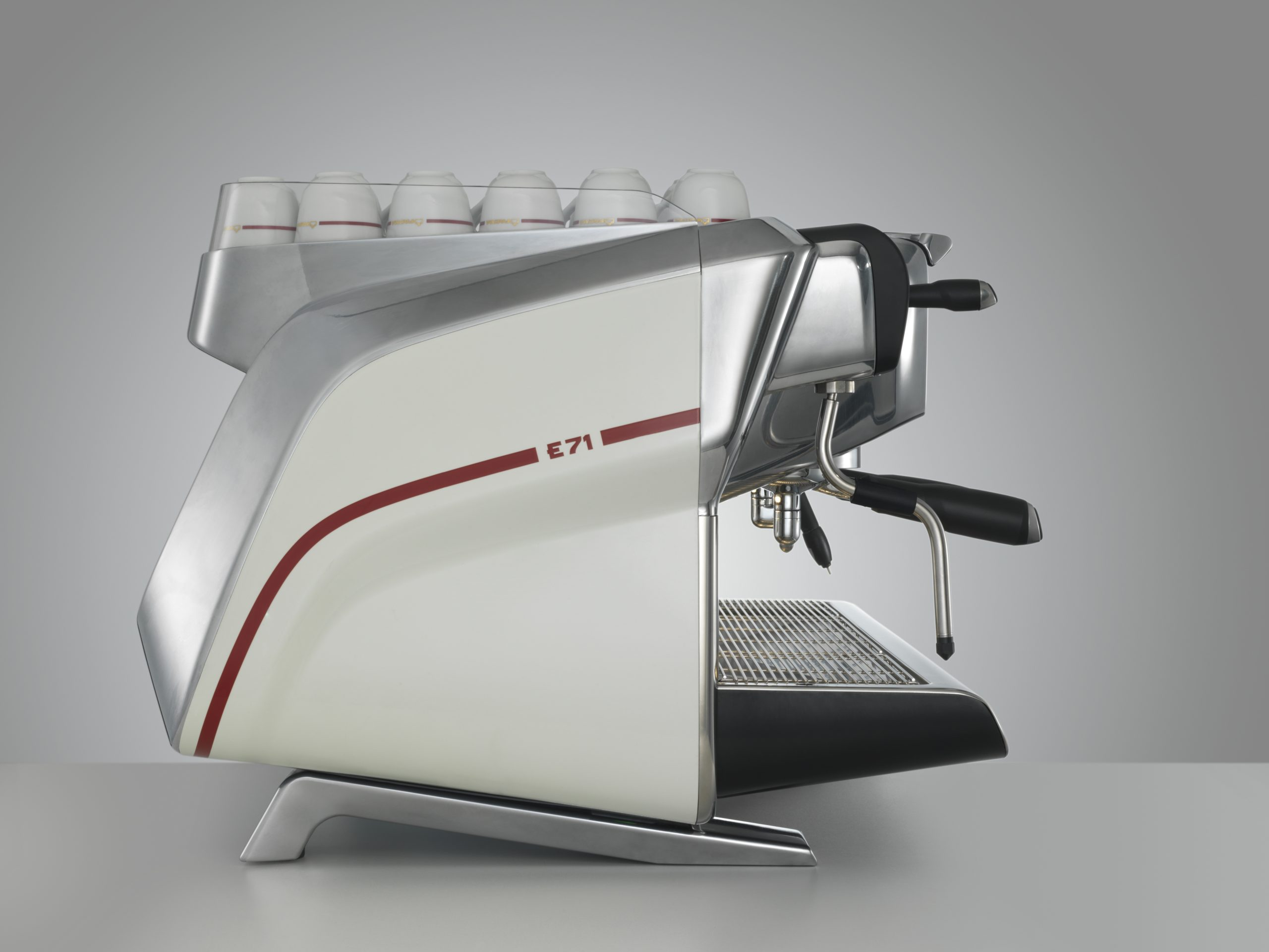 Faema E71 side, white